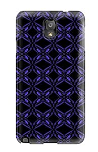 For TbjcOhQ3110UnUMw Pretty Blue Violet Pattern Protective Case Cover Skin/galaxy Note 3 Case Cover