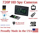 [100% COVERT] SecureGuard HD 720p USB Charger & Clock Radio Spy Camera Covert Hidden Nanny Camera Spy Gadget with 32GB Micro SD Card