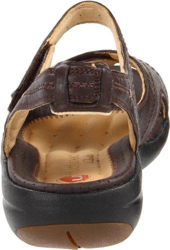Clarks Womens Hatch Backstrap Sandal Dark Brown Leather ibEy5MVXu9