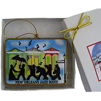 Amazon New Orleans Jazz Band Christmas Ornament Favor New