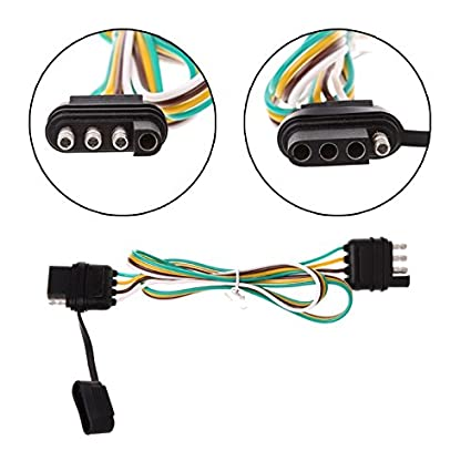 Amazon.com: Binoster 4-Way Trailer Wire Extension Wiring Harness Kit on 4 wire trailer lights, 4 wire wiring diagram light, utility trailer harness, 4 wire trailer connector, 4 wire ignition switch, 4 wire trailer cable,