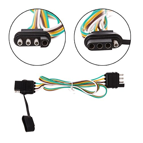 Amazon.com: Binoster 4-Way Trailer Wire Extension Wiring Harness Kit on trailer turn signal colors, 4 flat trailer colors, 4-way round trailer lights colors,