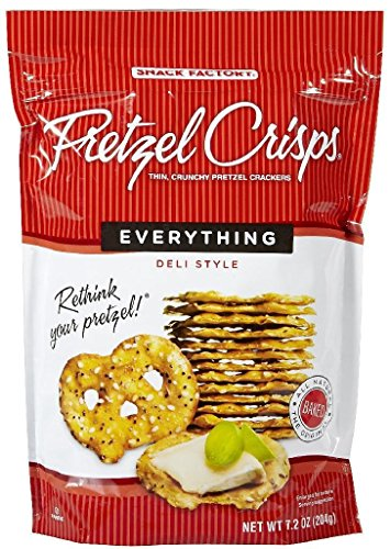 Snack Factory Pretzel Crisps, Everything, 7.2 oz