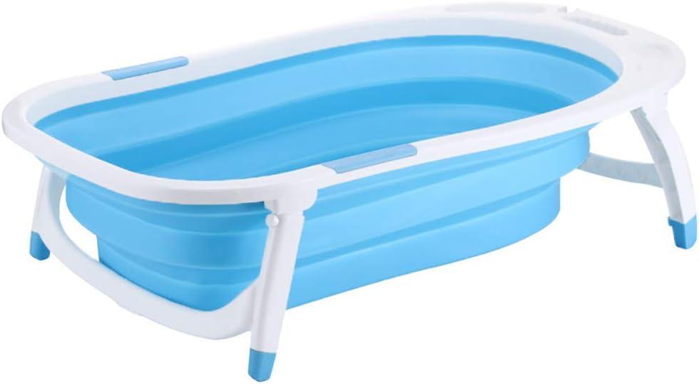 YXMJ Bañera Bebe Viaje, Piscina Hinchable Material Plastico PP Cubo Piscina para Bebés Diseño Plegable para Fácil Almacenamiento 3 Color (Size : 82 * 50 * 23cm), Blue: Amazon.es: Deportes y aire libre
