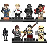 Star wars minifigura Rogue un - 8pcs Minifigure - Cassian Andor Jyn Erso Imperial Hovertank trooper Imperial Mort trooper star K-2SO Chirrut Imwe Baze Malbus - Star Wars rogue one générique