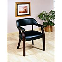 Office Chairs Traditional Upholstered Vinyl Side Chair with Nailhead Trim by Coaster