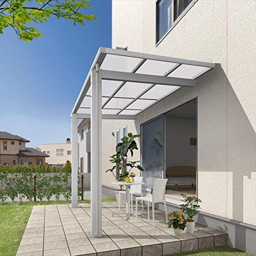 三協アルミ 独立式テラス レボリューD 3.0間×5尺 600タイプ/関東間/標準柱(H24)/2連結 熱線遮断ポリカ屋根  サンシルバー B00XR20YE0