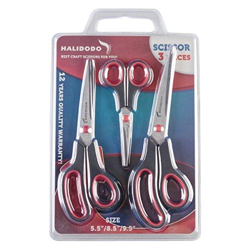 Scissors, Shears for Office, School, Kitchen, Sewing, Art and Craft Activities, Features Durable Design, Comfort Grip Razor Sharp Blades