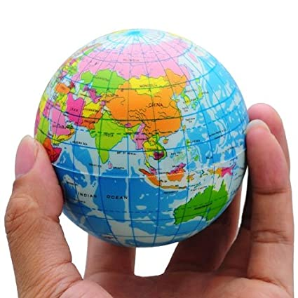 Buy funny world map globe foam stress relief bouncy ball online at funny world map globe foam stress relief bouncy ball gumiabroncs Choice Image
