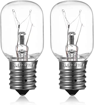 Amazon Com Bombilla De Luz Para Microondas Compatible Con Microondas Whirlpool Ge Kenmore Lg Regulable Con Base E17 125 V 40 W Repuesto Para 8206232a 2 Unidades Home Improvement
