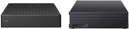 【セット買い】【Amazon.co.jp限定】Seagate Expansion HDD 6TB TV録画 静音 PS4 縦・横置可 省エネ 3年保証 外付け ハードディスク 3.5インチ STEB6000301 & 【Amazon.co.jp限定】BUFFALO 外付けハードディスク 4TB テレビ録画/PC/PS4/4K対応 静音&コンパクト 日本製 故障予測 みまもり合図 HD-AD4U3