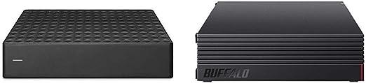 【セット買い】【Amazon.co.jp限定】Seagate Expansion HDD 8TB TV録画 静音 PS4 縦・横置可 省エネ 3年保証 外付け ハードディスク 3.5インチ STEB8000301 & 【Amazon.co.jp限定】BUFFALO 外付けハードディスク 4TB テレビ録画/PC/PS4/4K対応 静音&コンパクト 日本製 故障予測 みまもり合図 HD-AD4U3