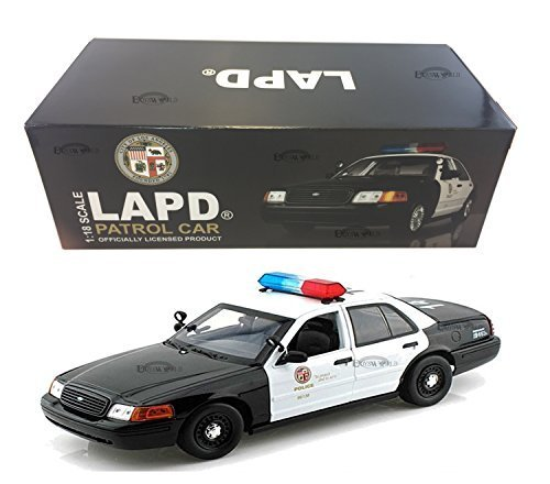 FORD CROWN VICTORIA LOS ANGELES POLICE LAPD 1:18 MODEL CAR