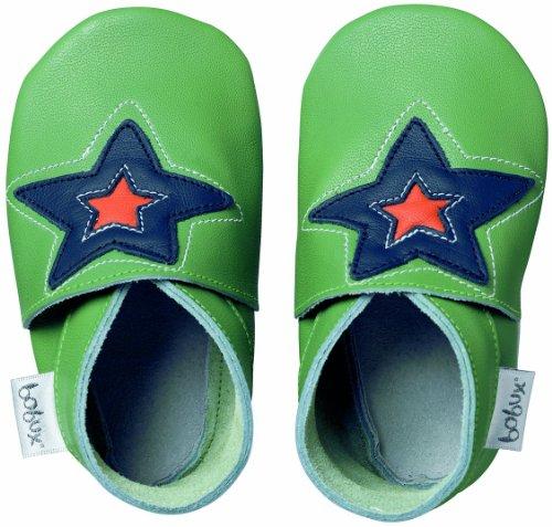 Bobux BB 4147 Green Astro Star - Zapatos, diseño de estrella, color verde Vert avec étoile Talla:Taille M