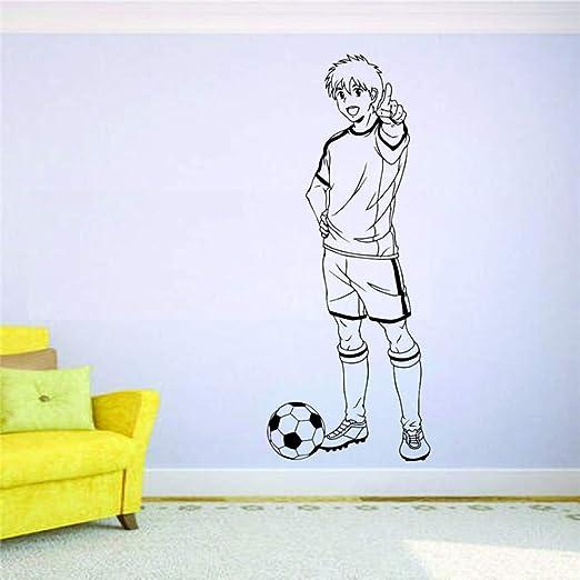 zqyjhkou Soccer Wall Mural Vinyl Decal Sticker Deporte de Fútbol ...