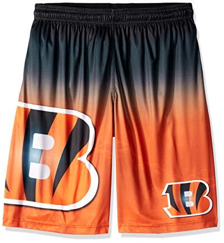 (FOCO NFL Cincinnati Bengals Mens Football Team Logo Gradient Big Logo Training Shortsfootball Team Logo Gradient Big Logo Training Shorts, Team Color,)