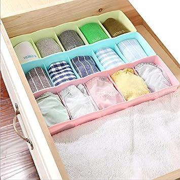 XIAOYANJIA 5 calzoncillos ropa interior calcetines caja de almacenamiento de plástico cajonera caja de almacenamiento de