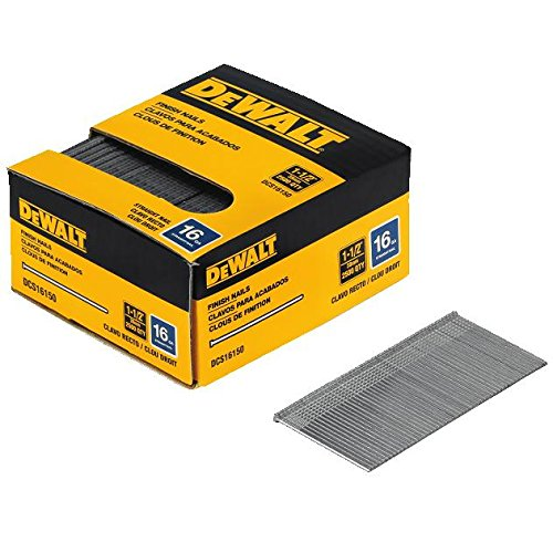 1 Inch 16 Gauge - DEWALT DCS16150 1-1/2-Inch by 16 Gauge Finish Nail (2,500 per Box)