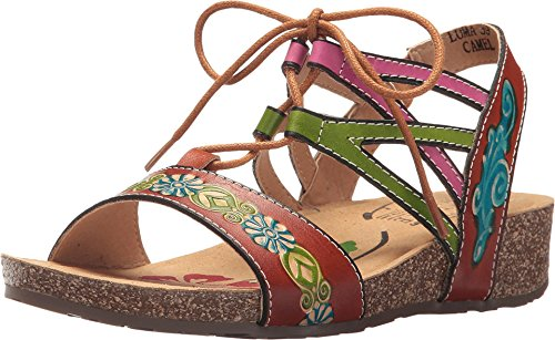(L'Artiste by Spring Step Women's Style Loma Camel Euro Size 41 Leather Sandal)