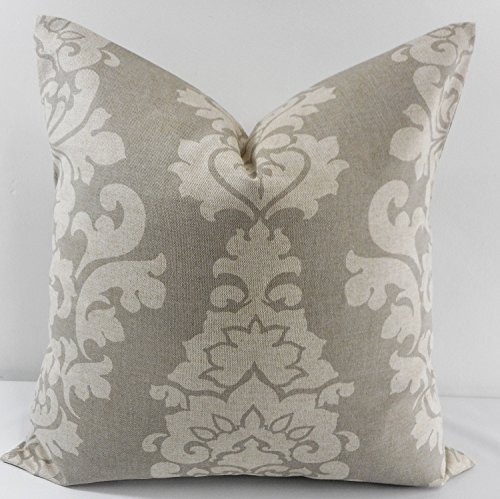 Berlin Beige & Taupe Pillow cover. Sham cover. throw Pillow cover. Select size.
