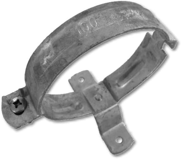 Abrazadera de tubo de desagüe galvanizada para montaje en madera (acero, galvanizado, DN76)
