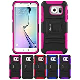 Galaxy S7 Case, HLCT Rugged Shock Proof Dual-Layer PC and Soft Silicone Case With Built-In Kickstand for Samsung Galaxy S7 (2016) (Rose Pink)