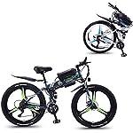 Alta velocità 26 '' Electric Mountain bike con rimovibile Grande capacità agli ioni di litio (36V 350W), bici elettrica 21 Speed Gear e tre modalità di funzionamento ( Color : Gray , Size : 13AH )