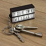 Keychain LIGHTBOX Light UP Keyring Cinematic White DIY Message Box Cinema New