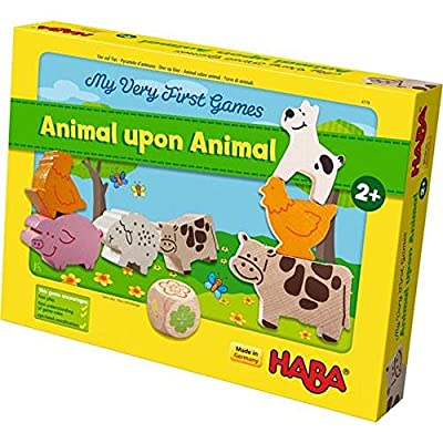 HABA My Very First Games - Animal Upon Animal Wood Stacking Game (Made in Germany): Toys & Games