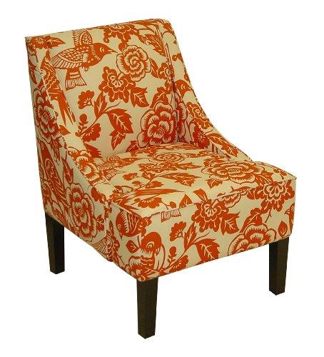 Skyline Fabric Chair (Skyline Furniture Swoop Arm Chair in Canary Tangerine)