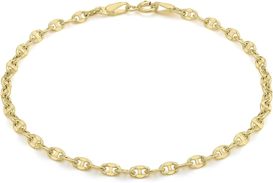 2f7a058cd Genuine 9ct Yellow Gold 65 Gucci Style Bracelet 18cm/7': Amazon.co.uk:  Jewellery