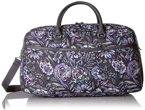 Vera Bradley Iconic Lay Flat Duffel Bag, Lavender Bouquet, Bouque ()