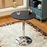 YOURLITEAMZ Bar Table Set of 3 – Adjustable Round Table and 2 Swivel Pub Stools