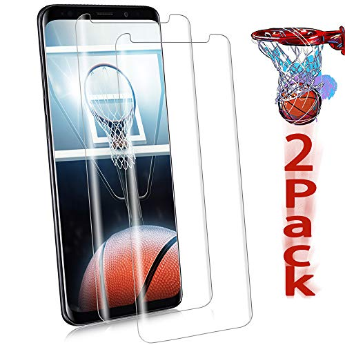 Galaxy S9 Screen Protector, [Curved Tempered Glass] [Case Friendly] [Not Full Coverage][Anti-Scratch][Bubble-Free] Screen Protector Film Compatible with Samsung Galaxy S9[Clear][2 Pack]