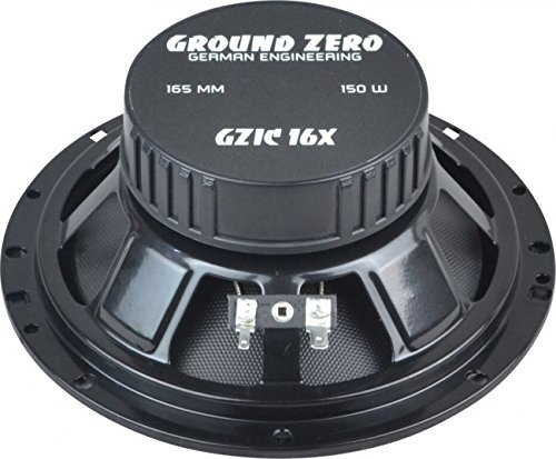 JUST SOUND best choice for caraudio Ground Zero GZIC 16X 16cm Lautsprecher System Einbauset f/ür Ford Fiesta MK7 Front Heck
