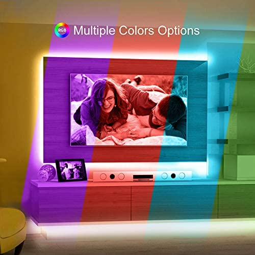 Led Strip Lights, Govee 16.4Ft Waterproof RGB Light Strip Kits with Remote for Room, Bedroom, TV, Kitchen, Desk, Color Changing Led Strip SMD5050 with 3M Adhesive and Clips, 12V Power Supply 3