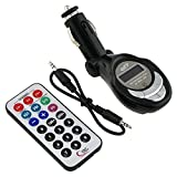 GTMax 3 in 1 SD/MMC/USB/MP3 Wireless In Car FM Transmitter with Remote for Apple iPhone 5, 4S, Pod Touch 5th, iPod Touch Nano 7th, iPad