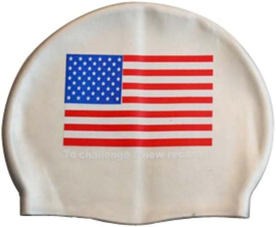 banderas nacionales] silicona gorro de natación para adulto USA ...