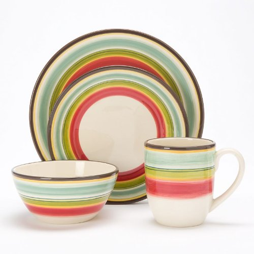 Bobby Flay 4 Piece Dinnerware Set - Santa Fe Collection