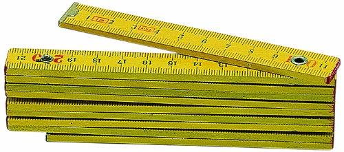 Metrica 22040 Holzmasstab 1 m, gelb