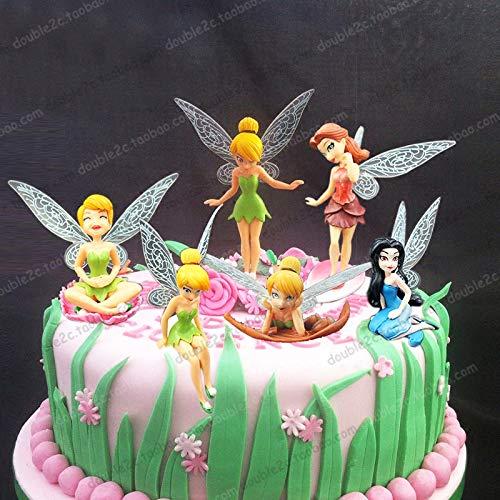 1 Set Princess cakenew Topper 6pcs/set 3 inch Tinkerbell dolls flying Fairy Adorable tinker bell gift baby toy pretty doll cakenew Topper
