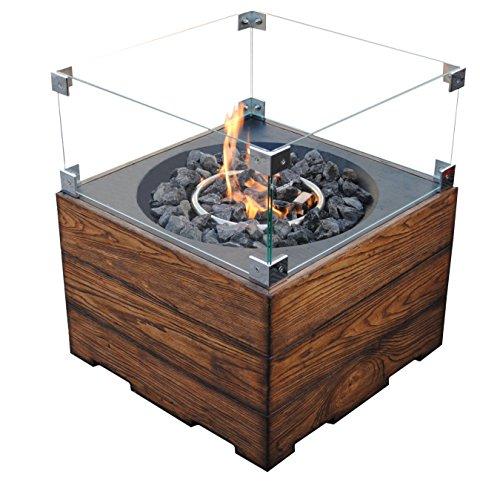 Clifton Glasaufsatz für Gaskamin Heizpilz Feuerstelle Garten Außenkamin