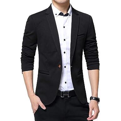 ec99a67c0efc KINDOYO Modern Casual Suits - Men Business Blazer Coat Tops Winter Slim Fit  Jacket, Black
