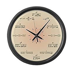 CafePress Math Clock (Light Yellow) Large 17 Round Wall Clock, Unique Decorative Clock