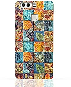 Huawei P9 Plus TPU Silicone Case With Old Handcraft Tile Pattern Design.
