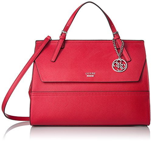 GUESS Huntley Saffiano Top Handle Flap, Cny Red by GUESS (Image #1)
