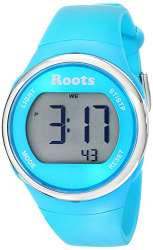 Roots Cayley Women's Resin Strap Digital Chronograph Watch with EL Backlight and Alarm (Aqua) ()