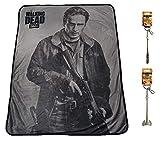 Rabbit Tanaka The Walking Dead Rick Grimes Soft Fleece Throw Blanket 46' x 60'