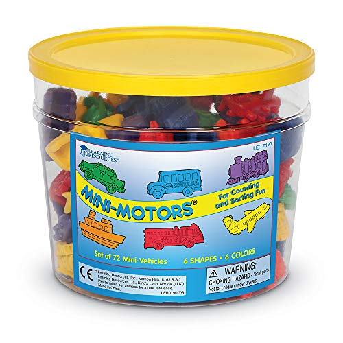 Learning Resources Figuras De Vehiculos Mini Motors Set De 72 Color Ler0190