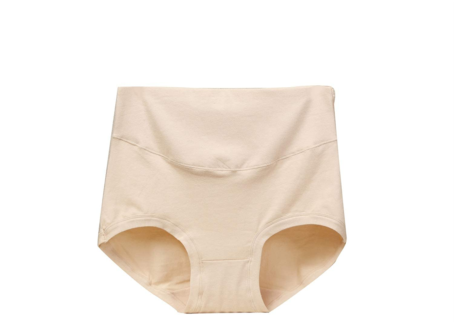 a53707ed784d XiuG 6 Piece Set Women's Large Size High Waist Breathable Seamless Lift Hip  Cotton Panties Sleeping Wear (Color : Apricot, Size : L): Amazon.in:  Clothing & ...